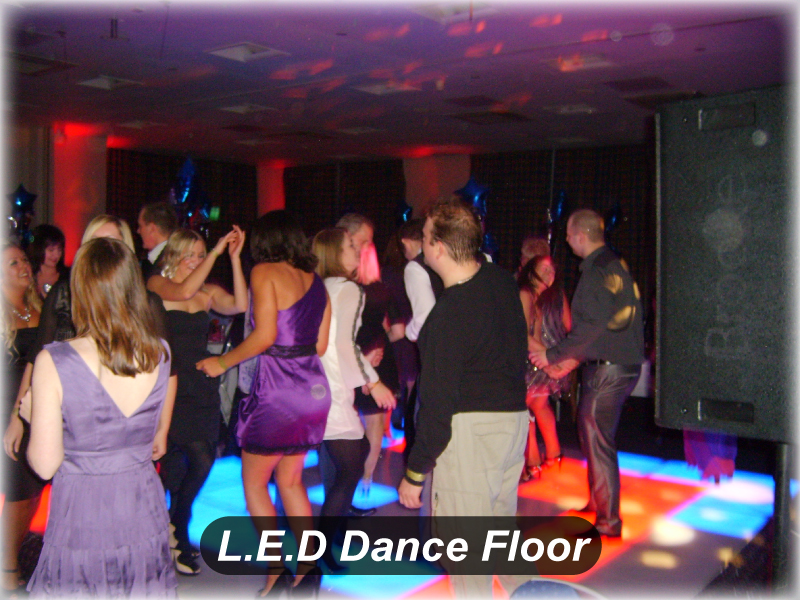LED Dance floor & led up lighting Wedding DJ Package at Holiday Inn
